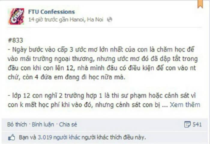 CF trên Facebook có nghĩa là Confession