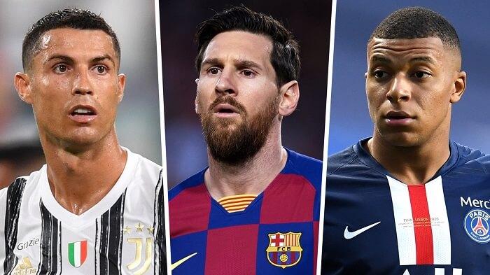 Ba gương mặt vàng trong làng tiền đạo của bóng đá thế giới